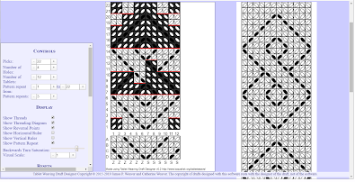An example draft with its pattern repeat to the right of it