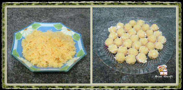 Bolo e cupcake de groselha com beijinho de coco 2
