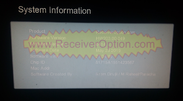 GX6605S HW203.00.049 TYPE HD RECEIVER TEN SPORTS OK NEW SOFTWARE