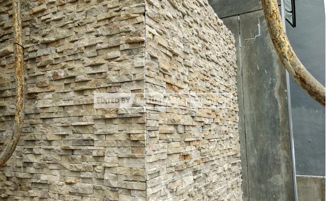 batu wall clading krem