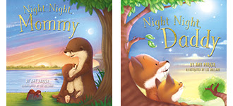 night night mommy and daddy book set covers