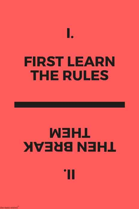 life rules quote