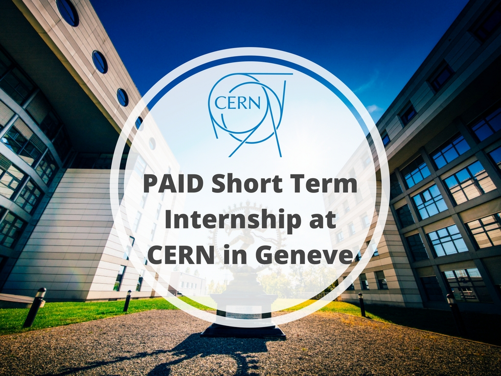 Bachelor and Master Degree] CERN Administrative Student Programme