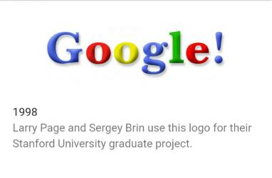 riwayat logo google