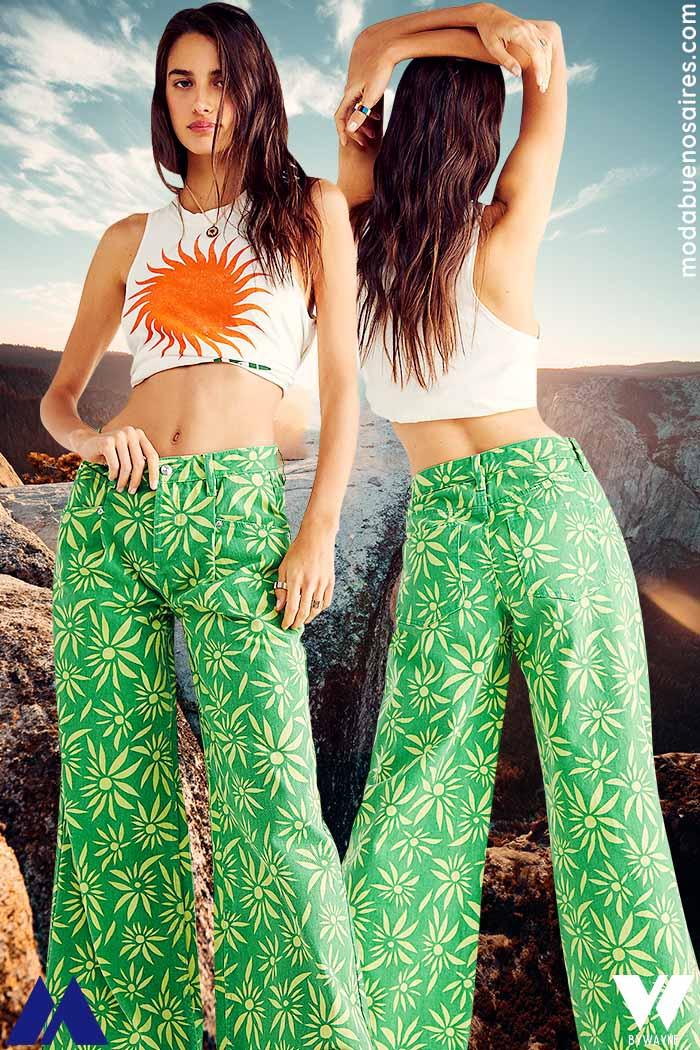 pantalones palazzo 2022 mujer moda verano 2022