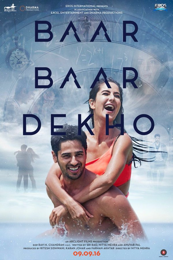Excel Entertainment Upcoming movie Sidharth Malhotra, Katrina Kaif 2016 New upcoming New movie Baar Baar Dekho Poster, Release date, full star cast