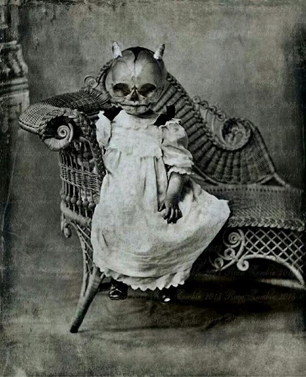 Dark Web, bambina con la maschera