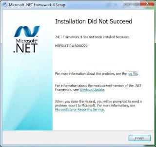 Net Framework 4 Error