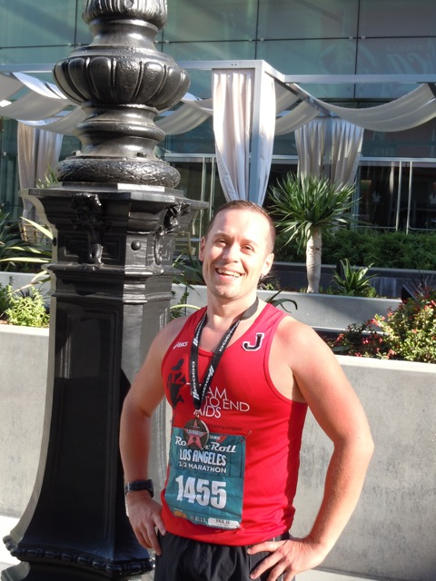 Jason after Rock'n'Roll LA Half Marathon 2011