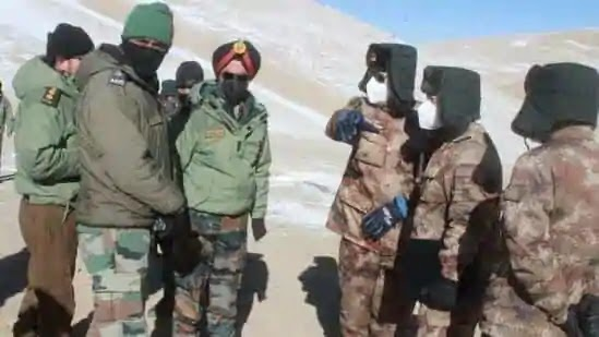 Indian and Chinese Troops discussing on LAC