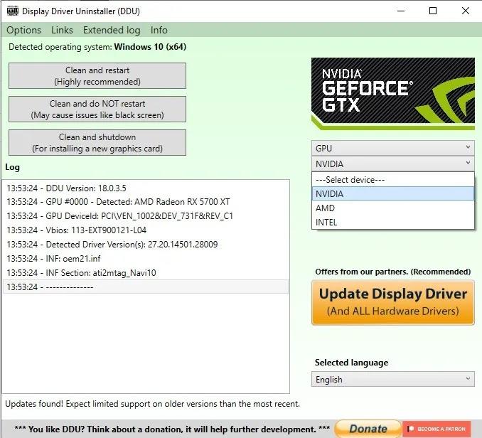 إزالة حذف برامج تشغيل Windows Gpu Audio