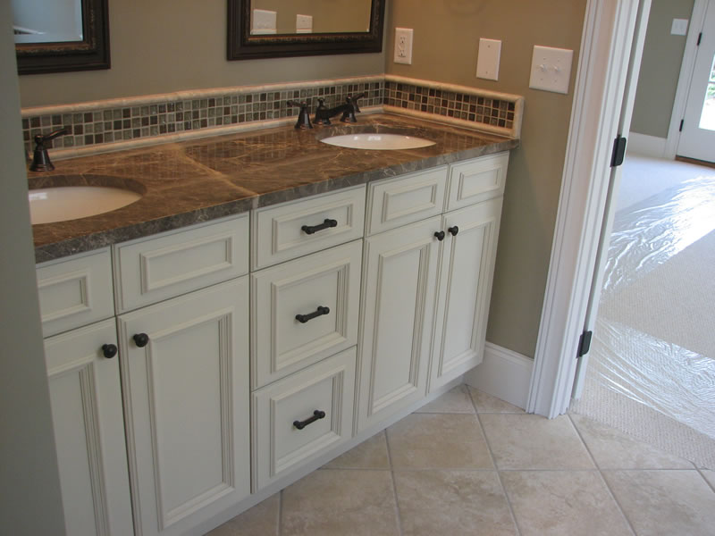 Antique White Cabinets Bathroom