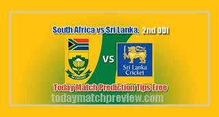 2nd ODI RSA vs SL Today Match Prediction
