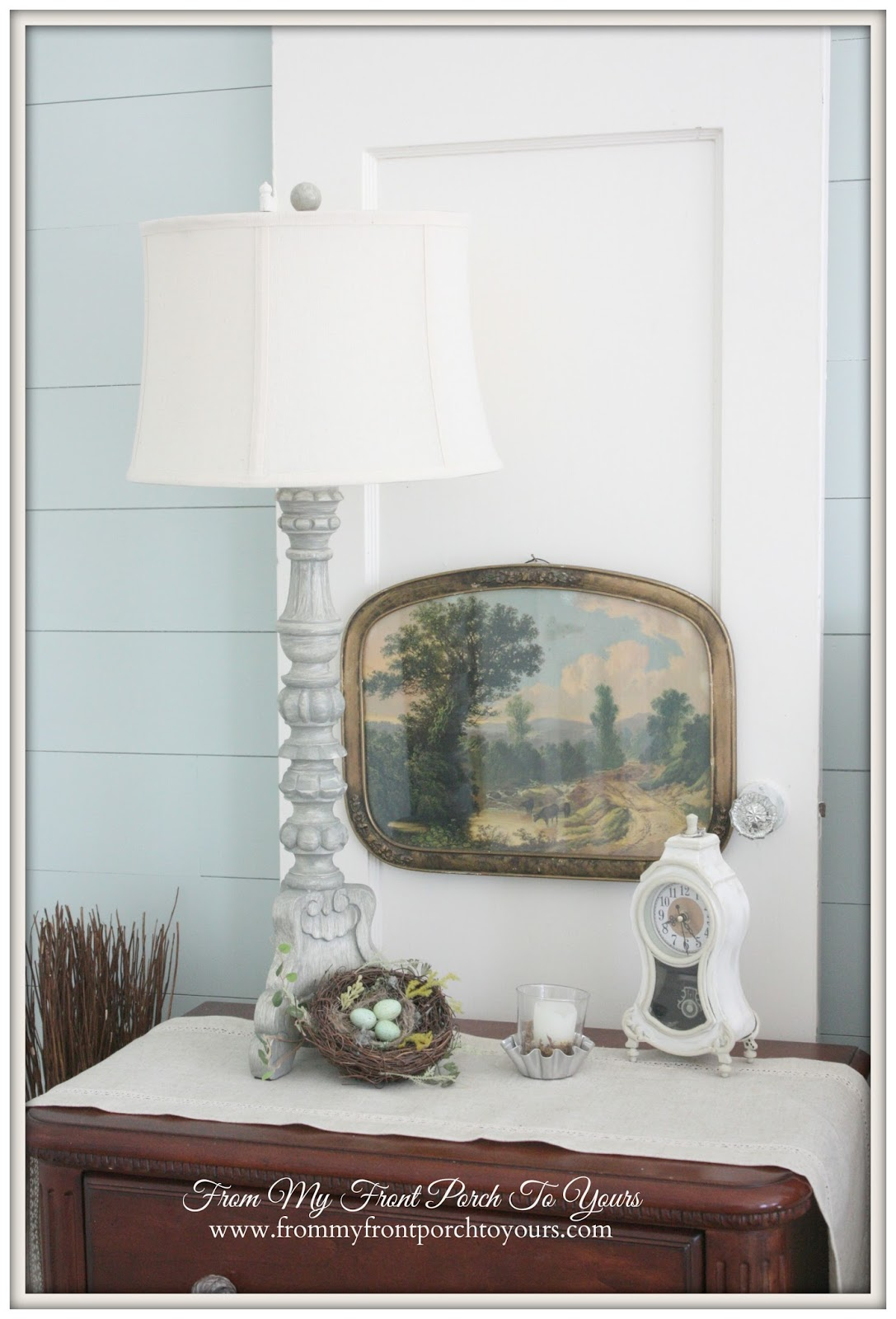 From My Front Porch To Yours- French Farmhouse Bedroom HomeGoods Lamp