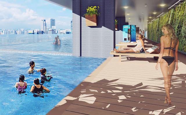 Bể bơi vô cực chung cư The Golden Palm