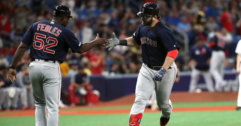 Recap - Red Sox power their way past Rays