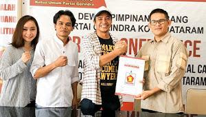 Cebong dan Kampret Berakhir, di Mataram Ketua Projo Mendaftar Calon Walikota ke Partai Gerindra