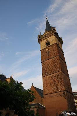 La Torre Campanaria nel centro storico di Obernai