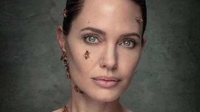 Αντζελίνα Τζολί: Φωτογραφήθηκε καλυμμένη από μέλισσες