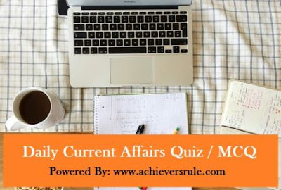 Daily Current Affairs MCQ - 28th July 2017
