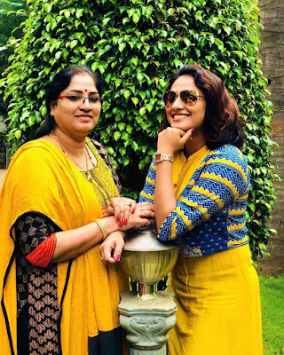 Haripriya with her mother...