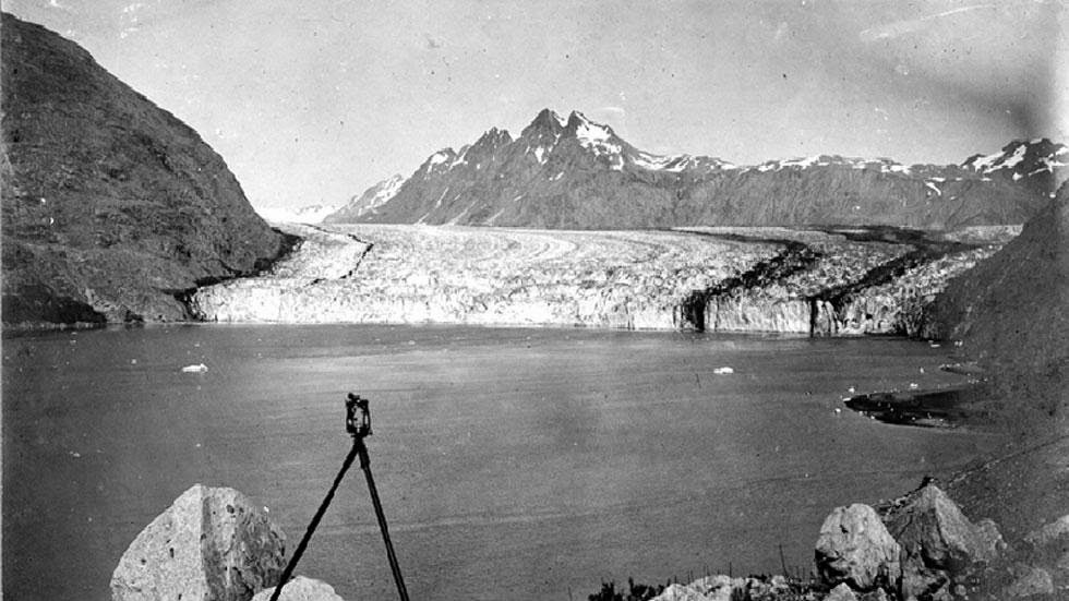 Carrol Glacier (1906) - Photos of Alaska Then And Now. This is A Get Ready to Be Shocked When You See What it Looks Like Now.