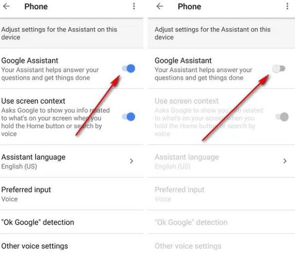 cara mematikan google assistant di android