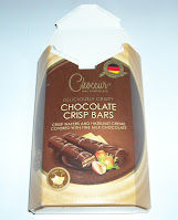 An opened package of Choceur Chocolate Crisp Bars, from Aldi