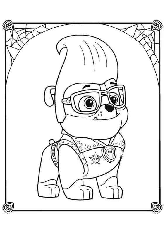 Paw patrol coloring pages 5