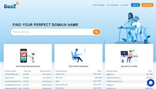 Daaz marketplace buy and sell domains
