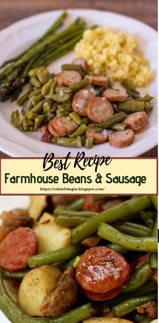 Farmhouse Beans & Sausage #healthyfood #dietketo #breakfast #food