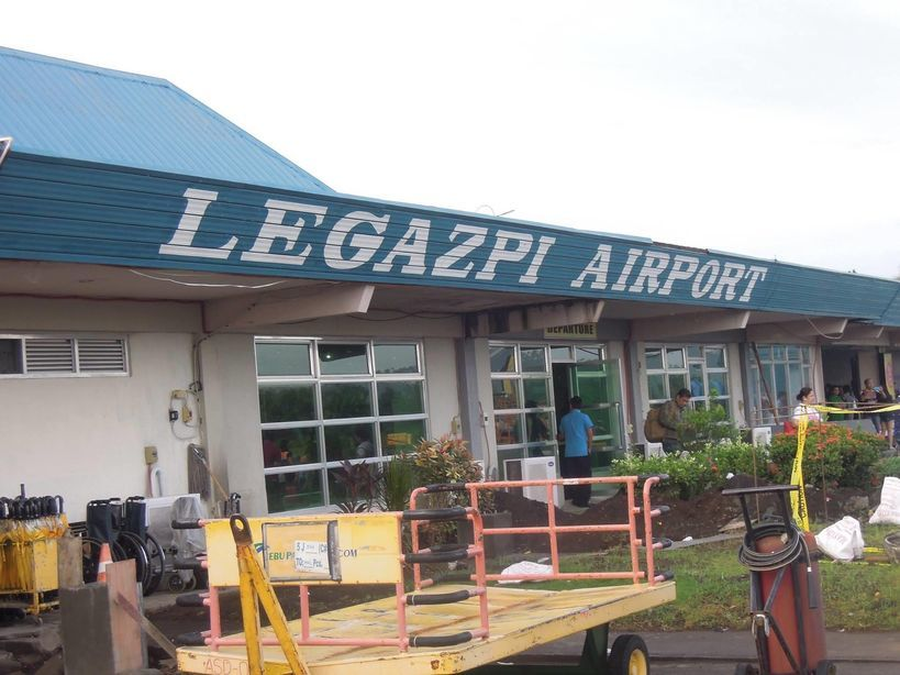 Outside Legazpi Domestic Airport in Albay