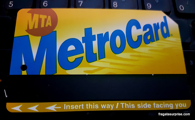 Transporte em Nova York - Metrocard