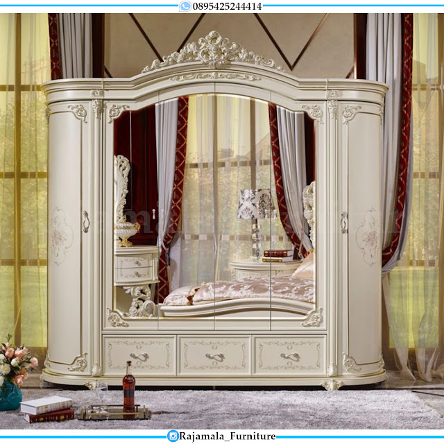 New Lemari Pakaian Mewah Ukir Jepara Luxury Classic RM-0301