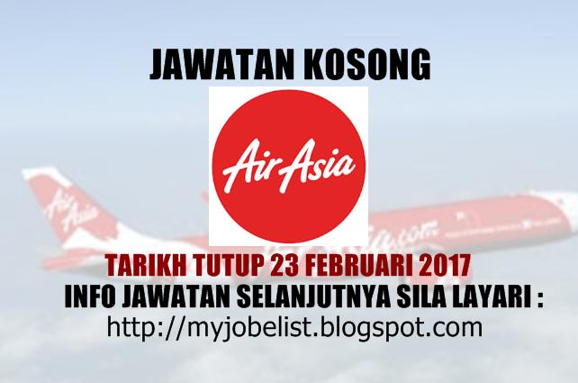 Jawatan Kosong Terkini di AirAsia Berhad Februari 2017