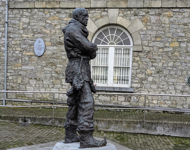 Shackleton statue in Athy Town in South Kildare Ireland