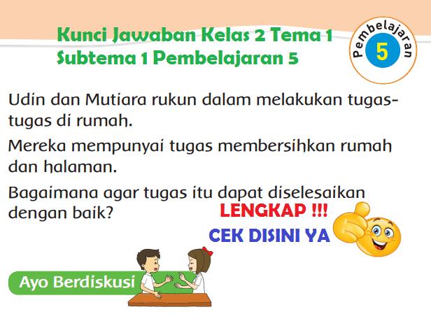 Lengkap Kunci Jawaban Kelas 2 Tema 1 Subtema 1 Pembelajaran 5 Jawaban Tematik Terbaru