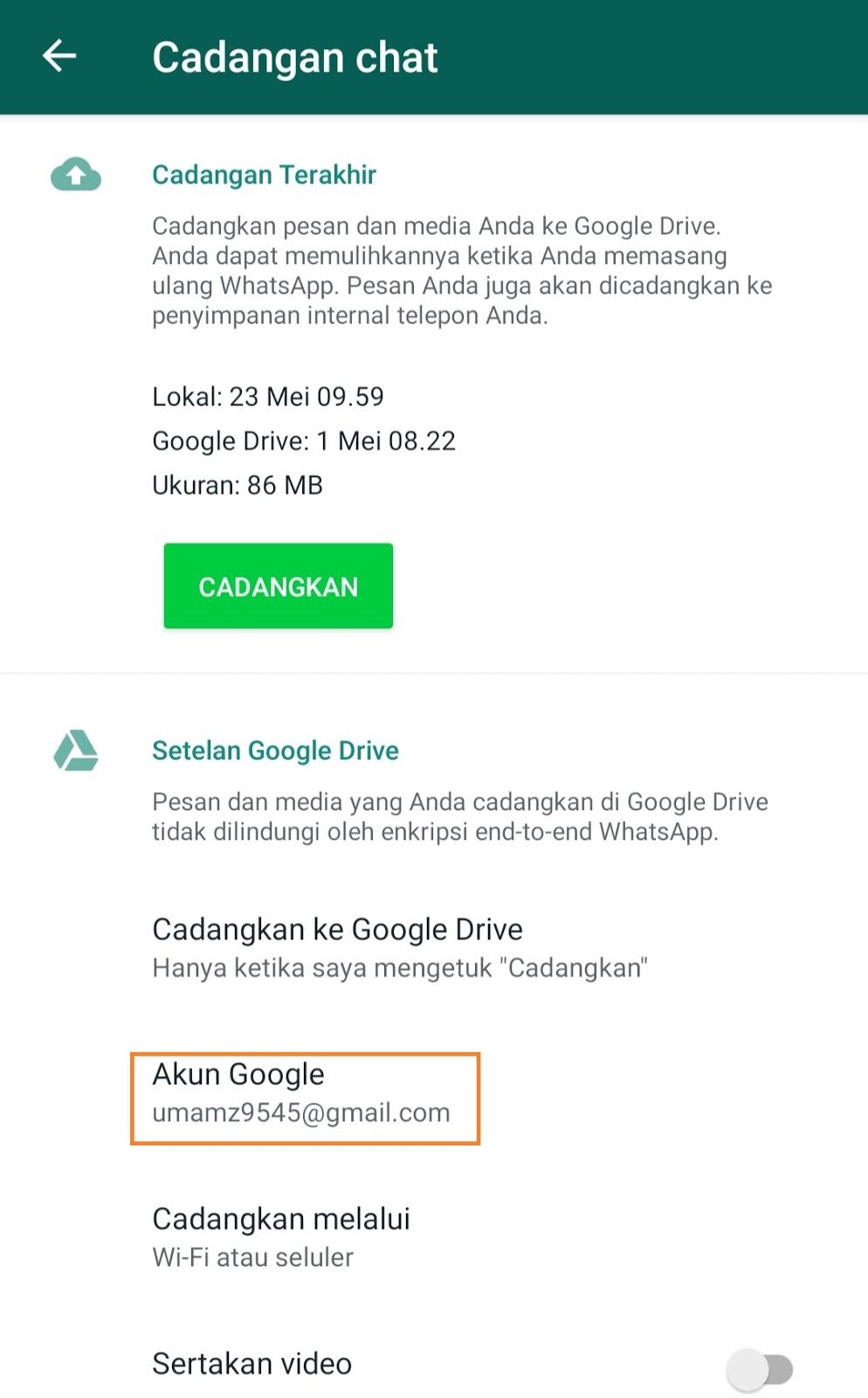 Cara Memindahkan Whatsapp ke hp lain
