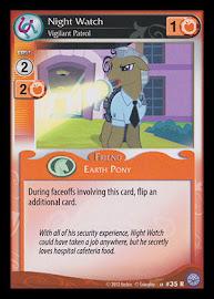 My Little Pony Night Watch, Vigilant Patrol Premiere CCG Card