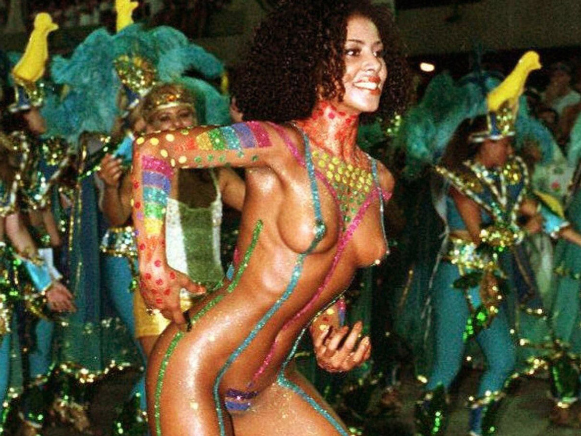 Casually Naked girls of brazil festival