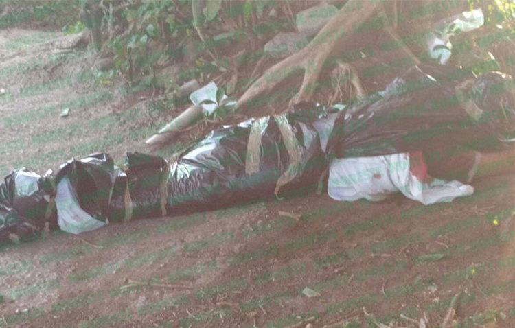 Hallan cuerpo embolsado en puerto de Veracruz.