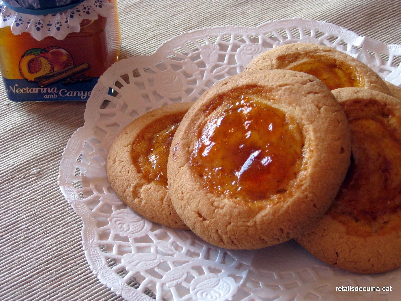 Pepites o galetes amb melmelada