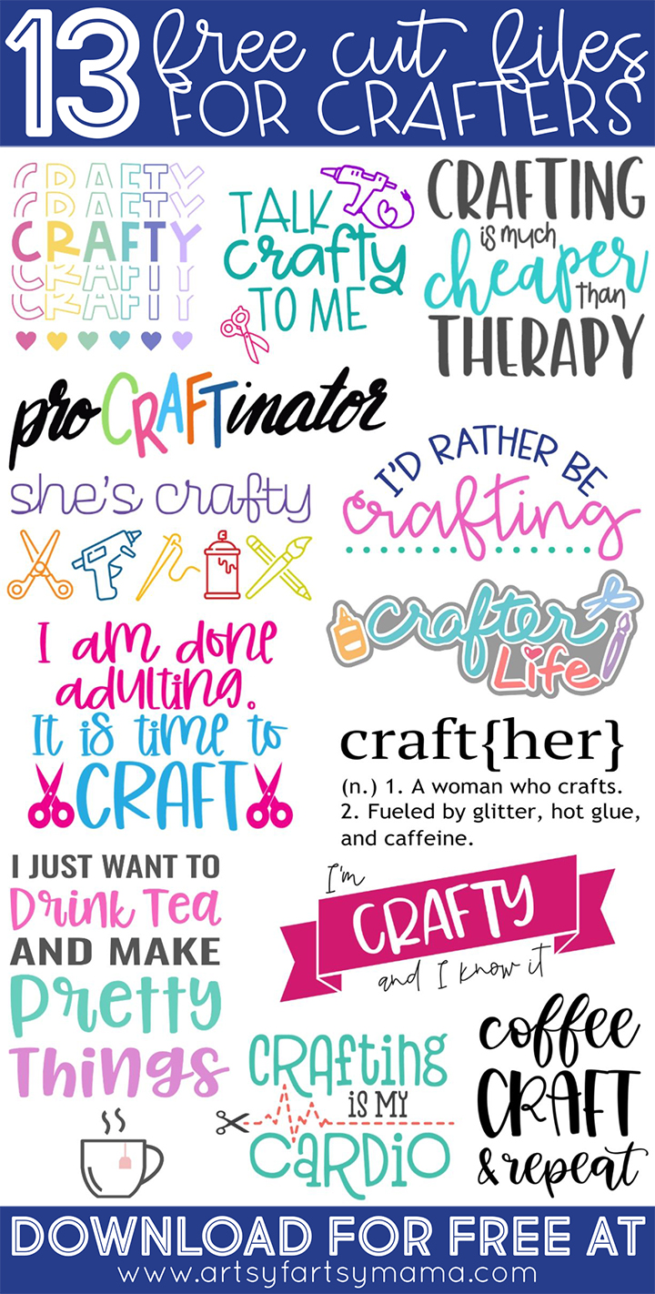 I'd Rather Be Crafting Shirt with 13 Free Crafty Cut Files