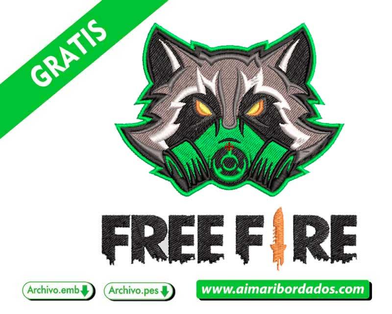 Mascota Free Fire para bordar descargar gratis