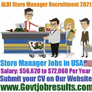 ALDI Store Manager Recruitment 2021-22