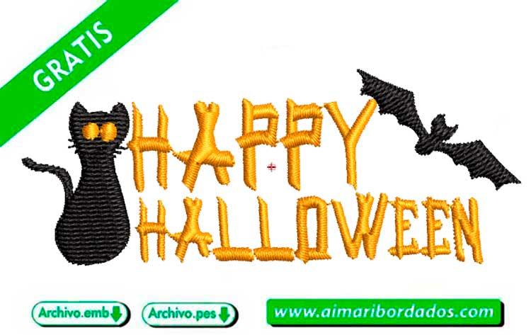 Letras Happy Halloween para bordar a máquina DESCARGA GRATIS