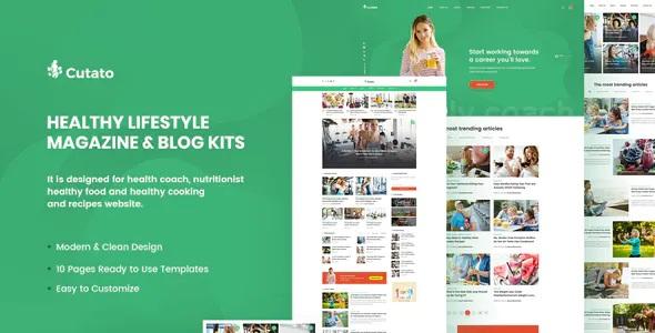 Best Healthy Lifestyle Magazine & Blog Elementor Template Kit