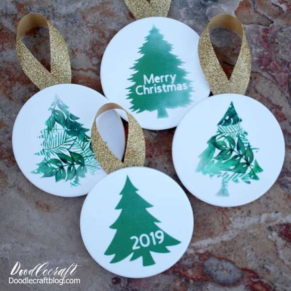cricut infusible ink christmas tree ornaments diy cricut infusible ink christmas tree