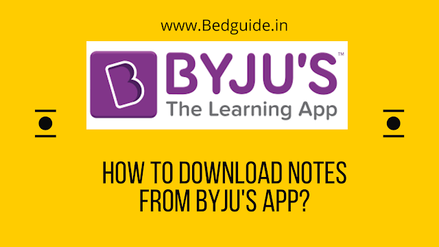 How to download notes from Byju's App?