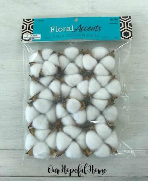Floral Accents faux cotton pods